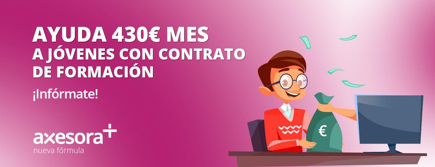 Ayudas 430€ a jóvenes con contrato de formación